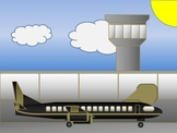 Customizable Airplane & Airport in PowerPoint