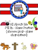 Customizable!!! All About Me Poster (you chose your class