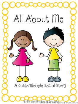 Customizable All About Me Social Story