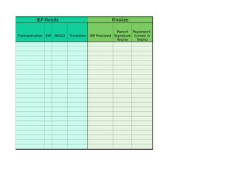 Customizable Annual Case Conference Planning Spreadsheet