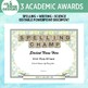 Customizable Awards for Writing and Science