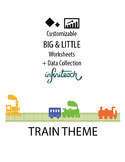 Customizable BIG & LITTLE Worksheets & Data For Students W