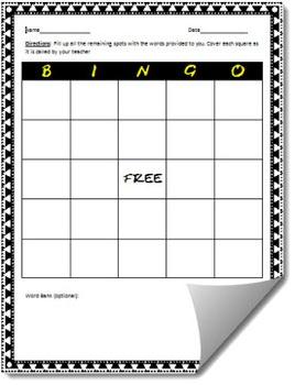 Customizable BINGO Template