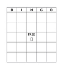 Customizable BINGO card