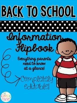 Back to School Flipbook - Editable!!