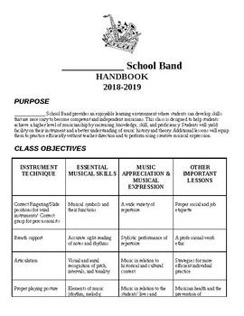 Customizable Band Handbook