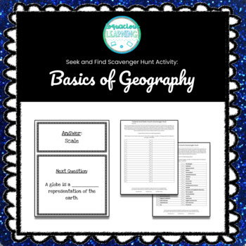 Geography Scavenger Hunt Teaching Resources Teachers Pay Teachers