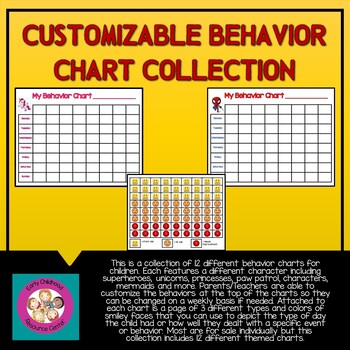 Customizable Behavior Chart Collection