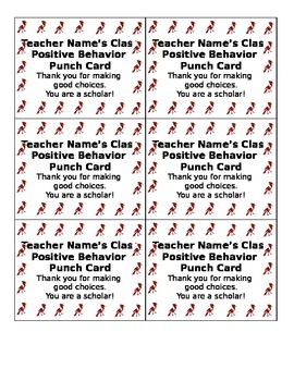 Customizable Behavior Punchcard