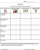 Customizable Behavior Work Chart