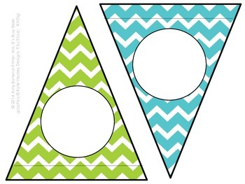 Customizable Bitty Birdies Pennant Banner