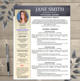 Creative Teacher Resume EDITABLE Black and Khaki Unique