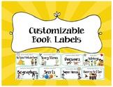 Customizable Book Bin Labels
