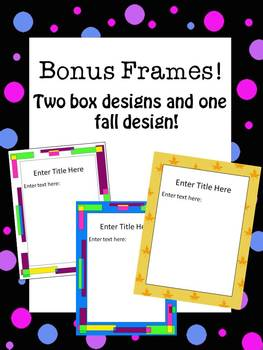 Customizable Borders and Frames