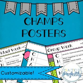 Customizable CHAMPS Posters