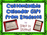 Customizable Calendar Gift from Students