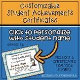 Student Achievement Award Certificates - Editable and Printable