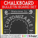 Chalkboard Bulletin Board - Customizable Back to School Bulletin Board