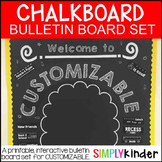 Chalkboard Bulletin Board - Customizable Back to School Bu