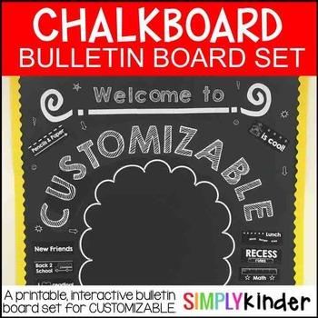 Chalkboard Bulletin Board - Customizable Back to School Bu