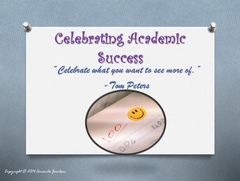 Customizable Character Education Celebrate Academics & Academic Extracurriculars