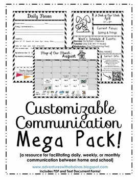 Customizable Chevon Communication Mega Pack [Daily, Weekly, & Monthly Forms]