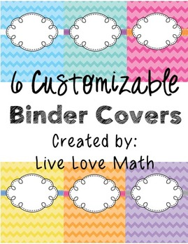 Customizable Chevron Binder Cover Pages