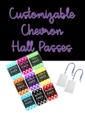 Customizable Chevron Hall Passes for Lanyards
