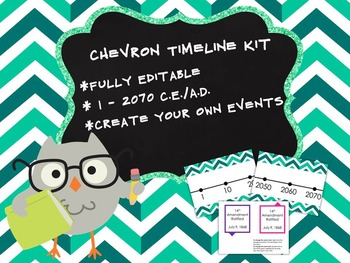 Customizable Chevron Timeline Kit 1 - 2070 CE AD