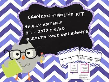Customizable Chevron Timeline Kit 1 - 2070 CE AD Purple Periwinkle