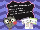 Customizable Chevron Timeline Kit 3500 BC - 2050 Ancient History