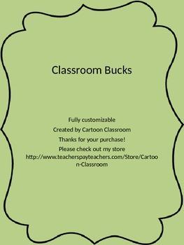 Customizable Classroom Incentive Dollars