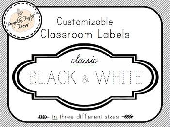 Customizable Classroom Labels
