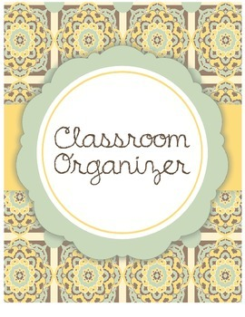 Customizable Classroom Organizer Cover Page (yellow/blue)