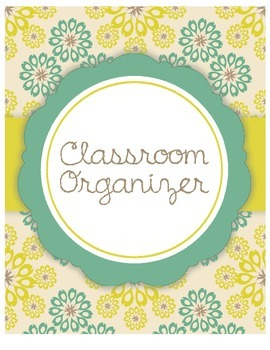 Customizable Classroom Organizer Cover Page (Teal/Gold)