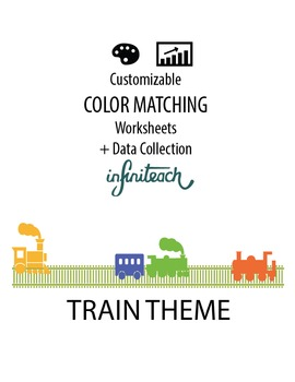 Customizable COLOR MATCHING Worksheets & Data For Students With Autism