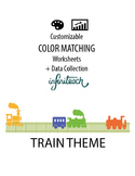 Customizable COLOR MATCHING Worksheets & Data For Students