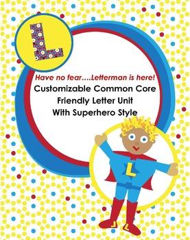 Friendly Letter Unit Superhero Style {Customizable, 1st, 2