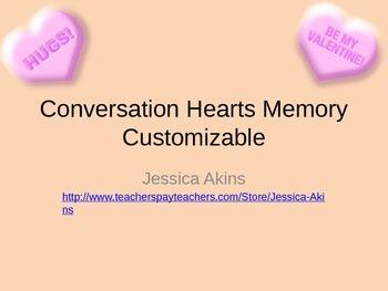 Customizable Conversation Heart Memory