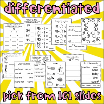 Customizable Differentiated First Grade Morning Work 4th Set