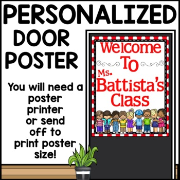 Customizable Door Sign