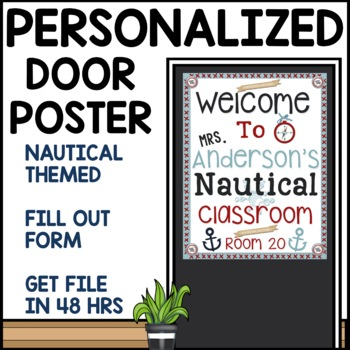 Customizable Door Sign (Nautical Themed)