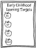 Customizable Early Childhood Special Education Learning Target Printable