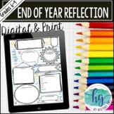 Customizable End of Year Reflection Doodle Page for Second