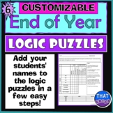 Customizable End of the Year Logic Puzzles