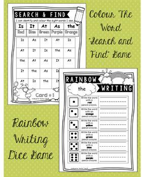 Customizable English Sight Word Games Bundle