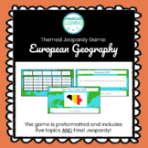 Customizable European Geography Jeopardy Style Game