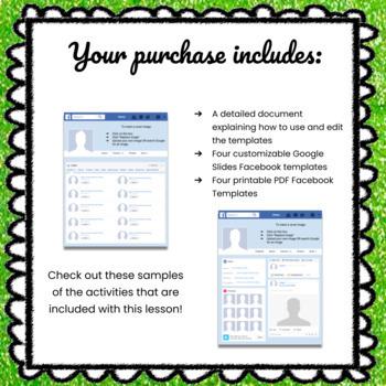 Customizable Facebook Template - Includes Editable Digital Template & Printable!