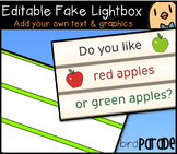 Editable Fake Lightbox