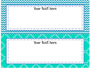 Customizable Focus Wall Caribbean, Turquoise, and Cobalt Blue 4th Grade CCSS